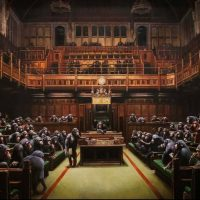 Banksy - government of lesser apes - UK vs South Africa