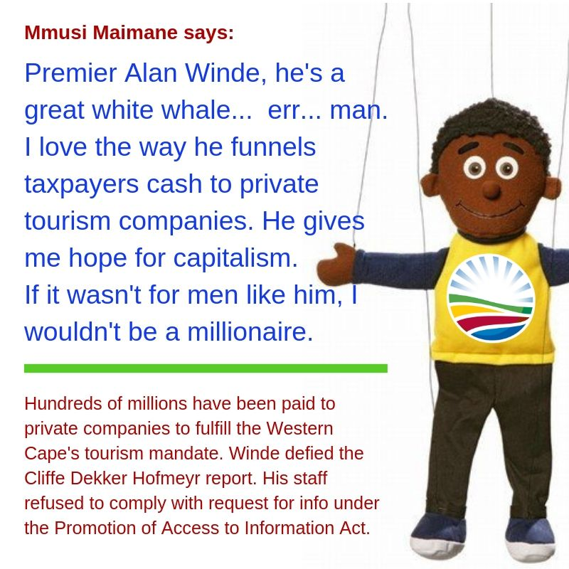 Mmusi Maimane says-Alan Winde is a white whale