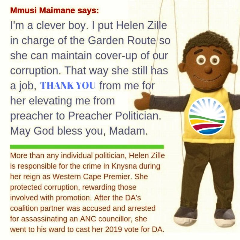 Mmusi Maimane says-I support Helen Zille corruption and cover-up