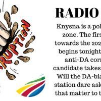 Radio debate Susan Campbell vs corrupt Democratic Alliance 2019.08.13