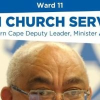 2019.12.01 DA church service before Ward 11 by-election campaign manager