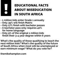 Educational facts about miseducation in South Africa