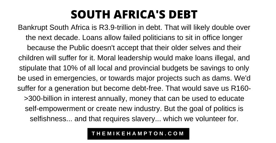South Africa debt and interest 2020 what should good government do